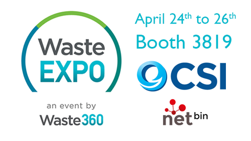 CSI at Waste Expo booth 3819