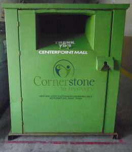 Cornerstone Donation bins monitored by netBin